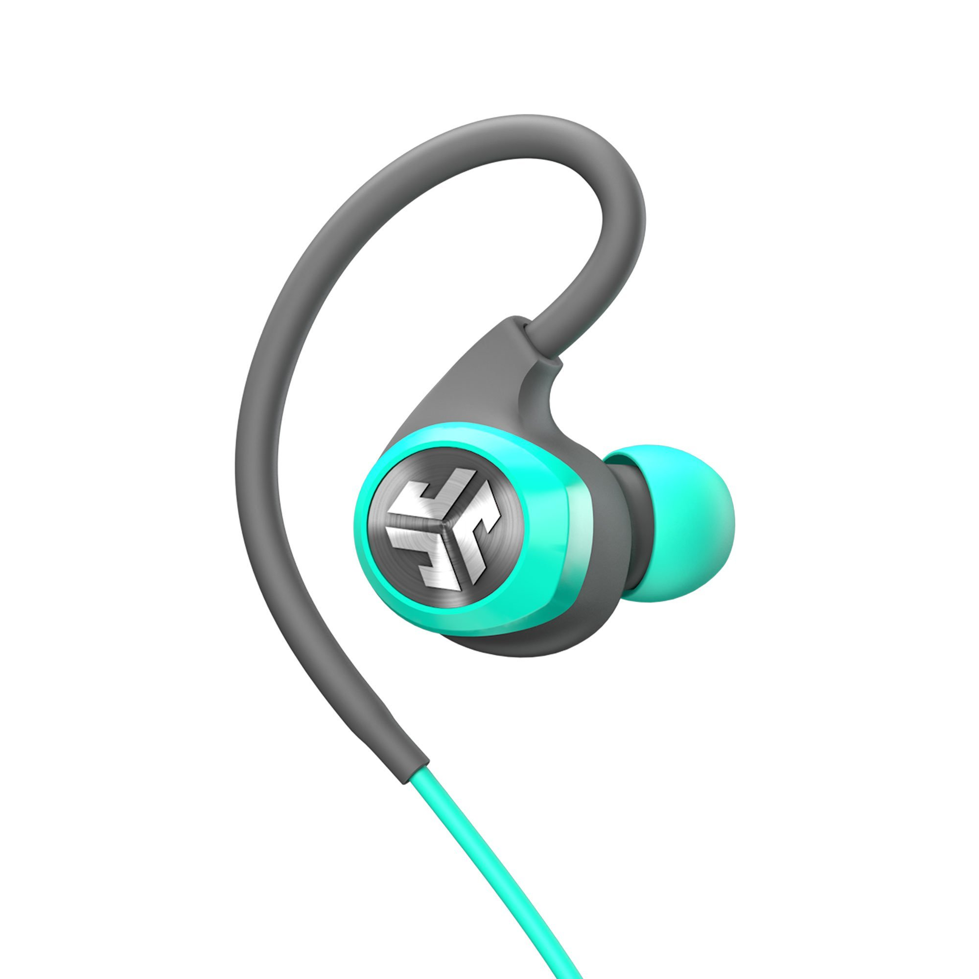 JLab Audio Epic2 Bluetooth 4.0 Wireless Sport Earbuds - Teal - GUARANTEED fitness, waterproof IPX5 rated, pristine high-performance 8mm sound drivers, 12 hr play time w/ microphone (Certified Refurbis