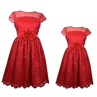 Bonnie Jean PARTNERLOOK Mutter & Tochter festliches Kleid, Mädchen ...