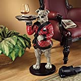 Design Toscano British Decor Rex the Bachelor Bulldog Butler Side Table, 27 Inch, Polyresin, Full Color