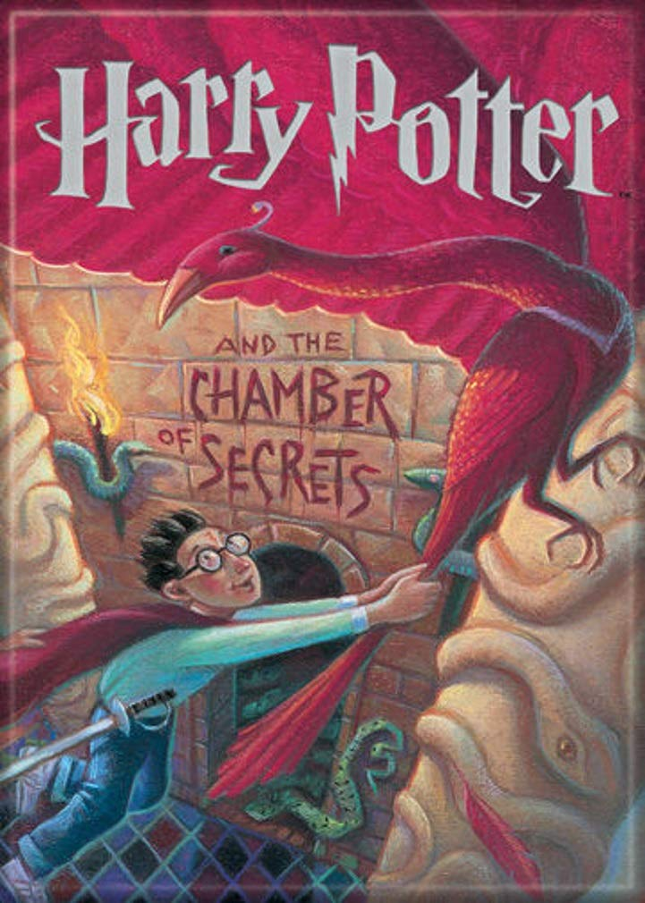 """Ata-Boy Harry Potter and The Chamber of Secrets Book Cover 2.5"""" x 3.5"""" Magnet for Refrigerators and Lockers"""