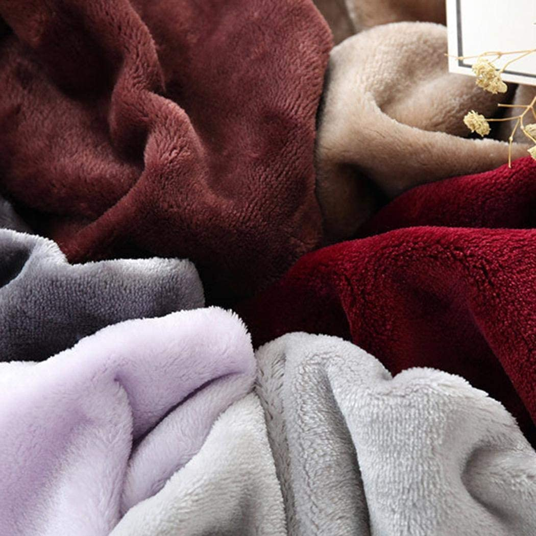 Lanbter 27.6 x 39.4inch Childrens Coral Fleece Student Dormitory Blanket Air Conditioning Nap Solid Blanket Throws