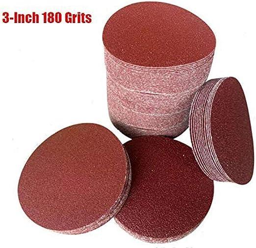 100pcs 3Inch 600Grit Sander Hook/&Loop Backed Flocking Sandpaper Polishing pad