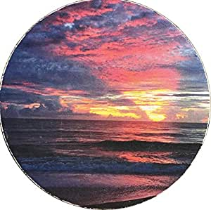 "Sunrise Vilano Beach Car Coaster Absorbent Stone 2.5"" St Augustine Cup Holder"