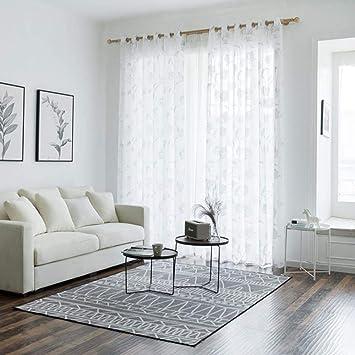 Amazon.de: PENVEAT Moderne tüll vorhänge für Wohnzimmer ...