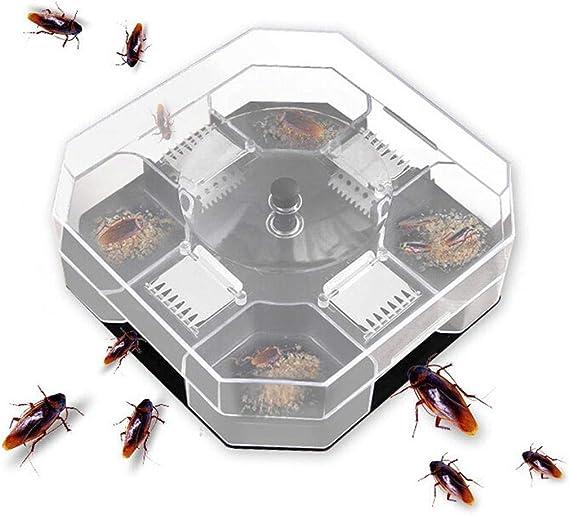Cucaracha Catcher trampa Bug Caja Killer Bait insecto Roach Reutilizable automático