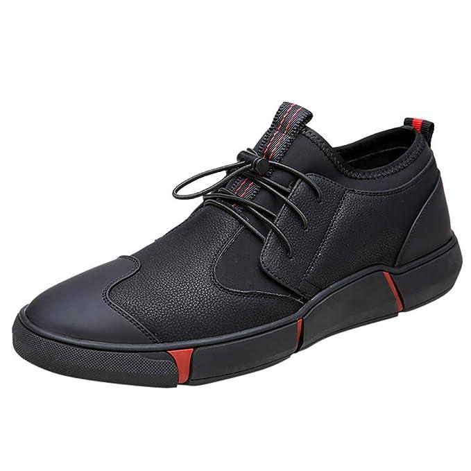 beautyjourney Zapatos Casuales de los Hombres Zapatillas de Deporte Zapatillas Antideslizantes Zapatos Planos Zapatillas Transpirables Zapatos de Deporte de ...
