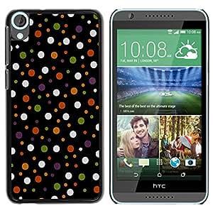 Paccase / SLIM PC / Aliminium Casa Carcasa Funda Case Cover para - Colored Polka Vintage Dots Pattern - HTC Desire 820