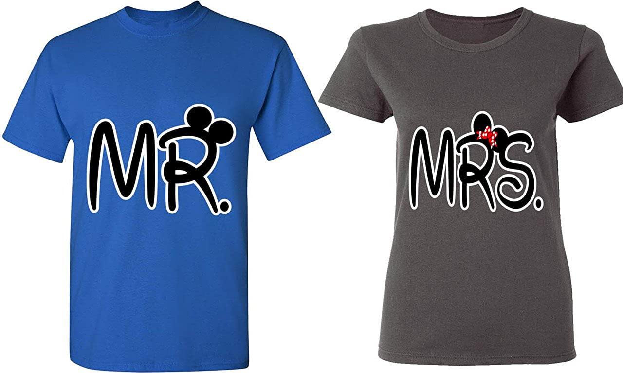 Amazon.com  Mr.   Mrs - Matching Couple Shirts - His and Her T-Shirts - Tees   Clothing eefd386a1