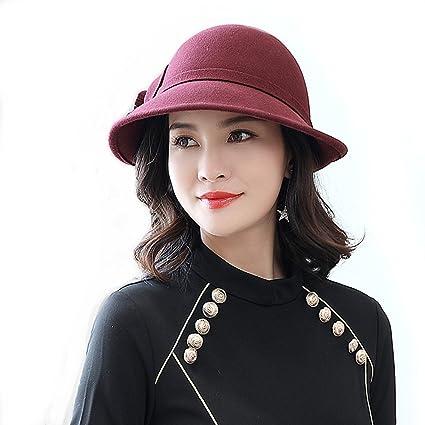 69242dc031c TTjII Womens hat With flower Bucket Bell Shaped Cap 1920s Vintage 100%Wool  Felt Cloche