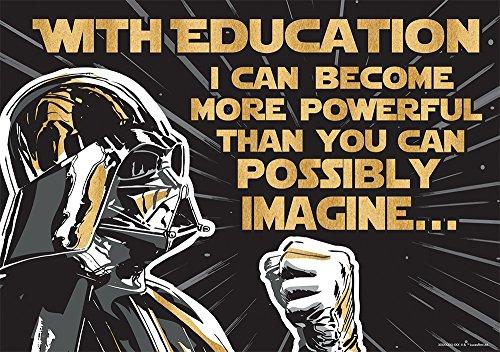 Star Wars Teacher (Eureka Star Wars 'The Power of Education' Classroom Poster, 13'' W x 19'')
