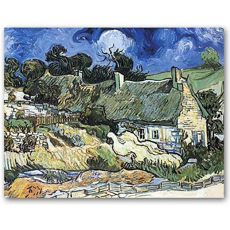 Thatched Cottages at Cordeville (Vincent van Gogh) - Masterpiece Jigsaw Puzzle 500pc