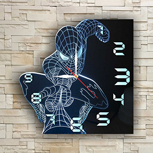 [SpiderMan 11.8'' Original Handmade Wall Clock - Get unique décor for home or office – Best gift ideas for kids, friends, parents and your soul] (Easy To Make At Home Superhero Costumes)