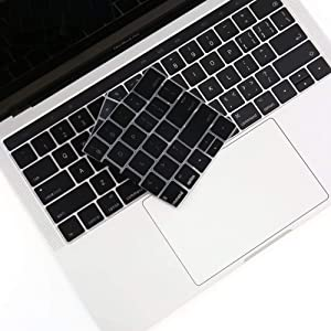 VFENG Premium Ultra Thin Silicone Keyboard Cover for MacBook Pro with Touch Bar 13