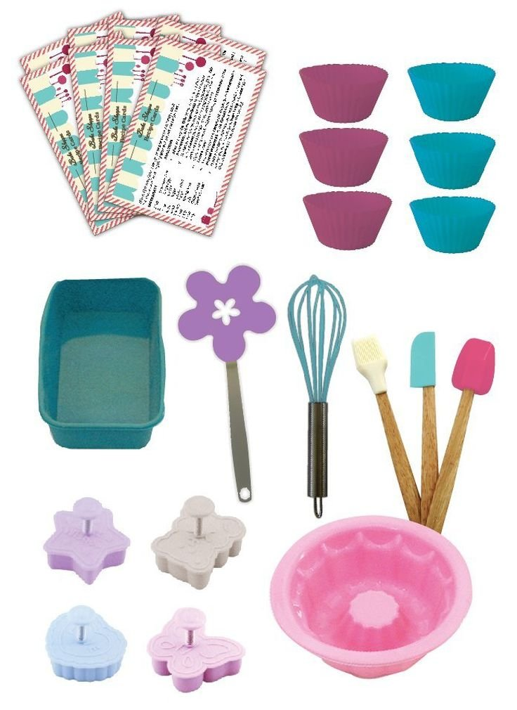 Handstand Kitchen Bake Shoppe 25-piece Deluxe Real Baking Set with Recipes for Kids by Handstand Kitchen (Image #2)