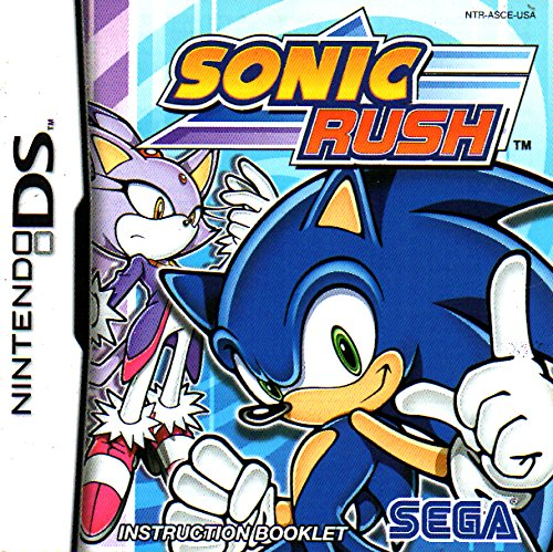 Sonic Rush DS Instruction Booklet (Nintendo DS Manual ONLY - NO GAME) Pamphlet - NO GAME INCLUDED