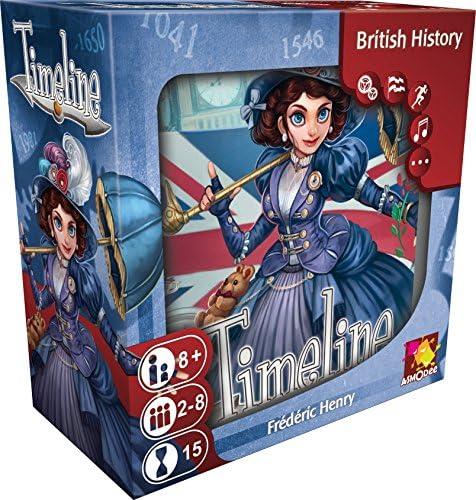 Asmodee editions Timeline - Juego de Cartas Timeline sobre la Historia británica, versión en inglés: Amazon.es: Juguetes y juegos