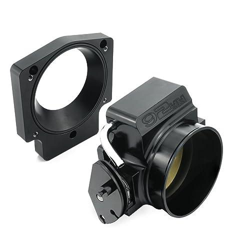 92mm Throttle Body Manifold Adapter Plate for LS LS2 LS3 LS6 LS7 LSX BLACK