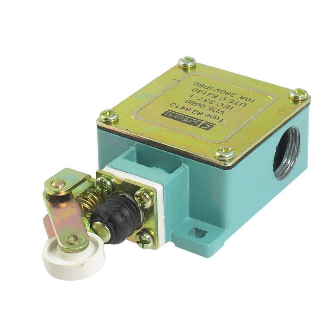 uxcell 838410 AC 380V 10A Momentary Roller Lever Actuator Limit Switch
