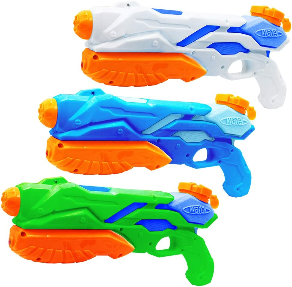MOZOOSON 3X Water Gun for Kids Toys Super Guns Soaker Pump for Kids Adults, Summer Water Blaster Toy for Swimming Pool Party Outdoor Beach Water Fighting: Toys & Games
