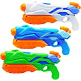 MOZOOSON 3X Water Gun for Kids Toys Super Guns Soaker Pump for Kids Adults, Summer Water Blaster Toy for Swimming Pool Party Outdoor Beach Water Fighting