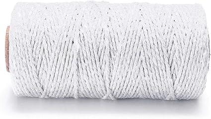 Sadasda223 Cuerda 2MM DIY Macrame rústico Colorido cordón de ...