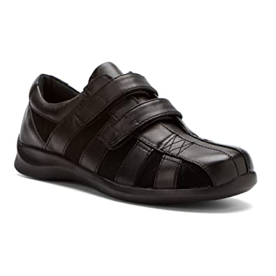 Women's Oxfords For Sale Apex Mary Double Strap Black Leather/Suede Women E830 On Sale