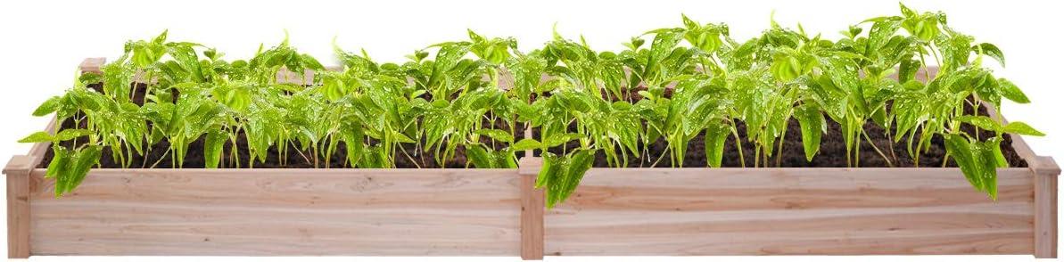 Giantex Jardín levantado Cama Planter, Kit Box plantador Vegetal ...