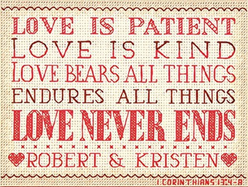 Dimensions 14 Count Love is Patient Mini Counted Cross Stitch Kit, 7 by 5-Inch