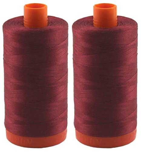 1422 Yards Each Aurifil 50WT 2423 Baby Pink Solid Mako Cotton Thread 2-Pack