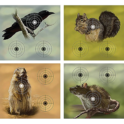 Crosman Varmint Targets, 20-Pack (Paper Targets For Bb Guns)