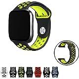 Vandarui Fitbit Versa Cinturino Morbido Silicone Sostituzione Regolabile Sport Della Fascia Della Cinghia Smartwatch Cardiaca Fitness Wristband (Grande, Nero/Giallo)