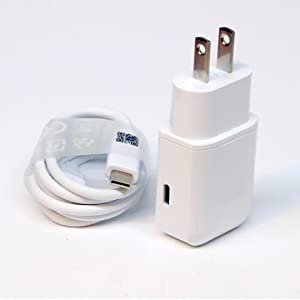 OEM Professional Vivo Xplay5 Elite Smartphone Quick Charge 3.0 Adaptive Fast Wall Charger with 2 Cables for USB-C and MicroUSB. [White/1M Cables]