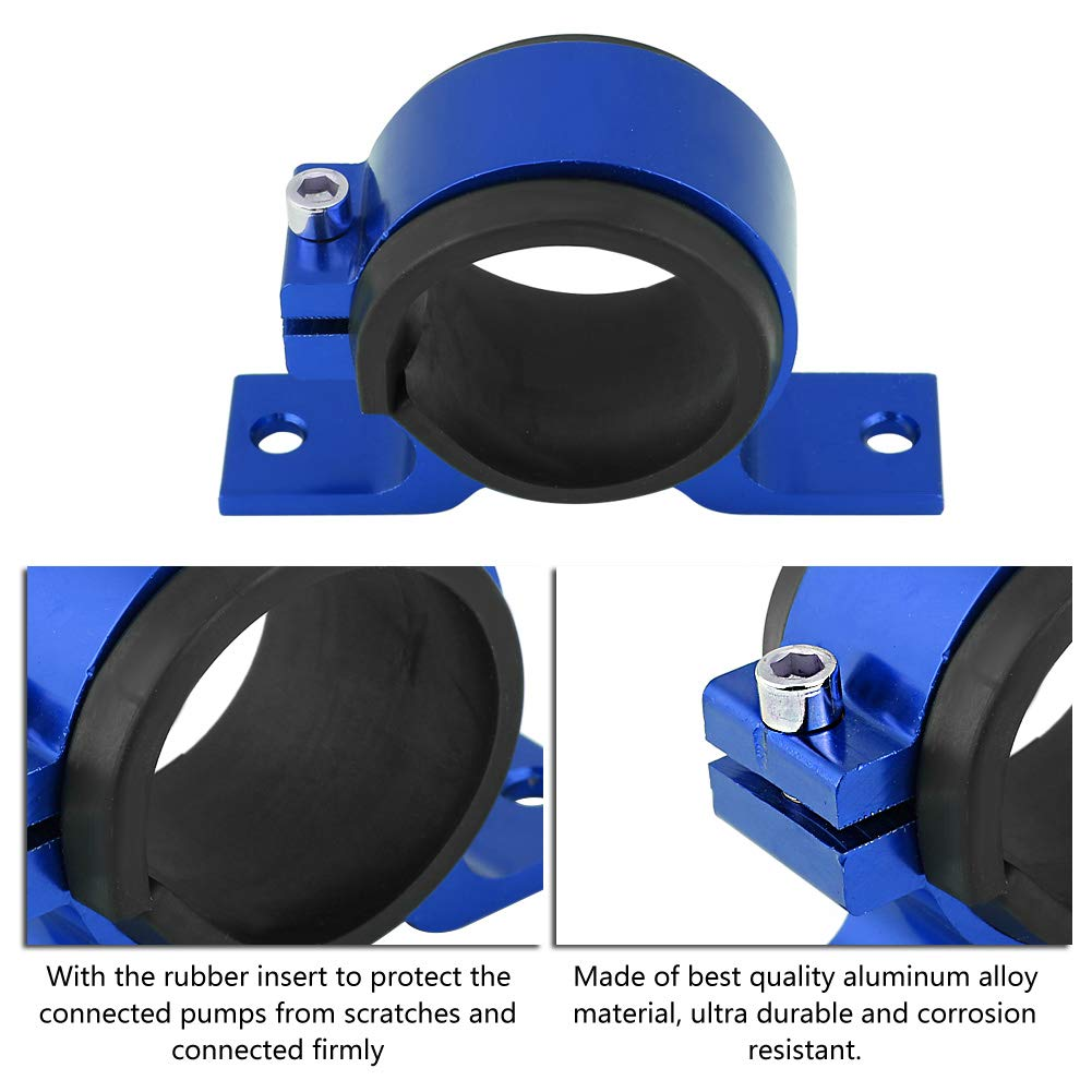 Blue Fuel Pump Bracket Aluminum Alloy 50mm Car Fuel Pump Mounting Bracket Single Filter Clamp Cradle