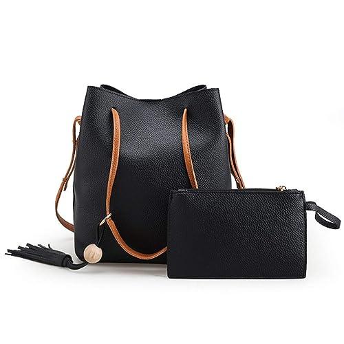 6d289a5dc55f2 Ikonic Fashion Vintage Women Shoulder Bags Messenger Bag Casual Two Piece  Set Handbags Ladies Purse Black
