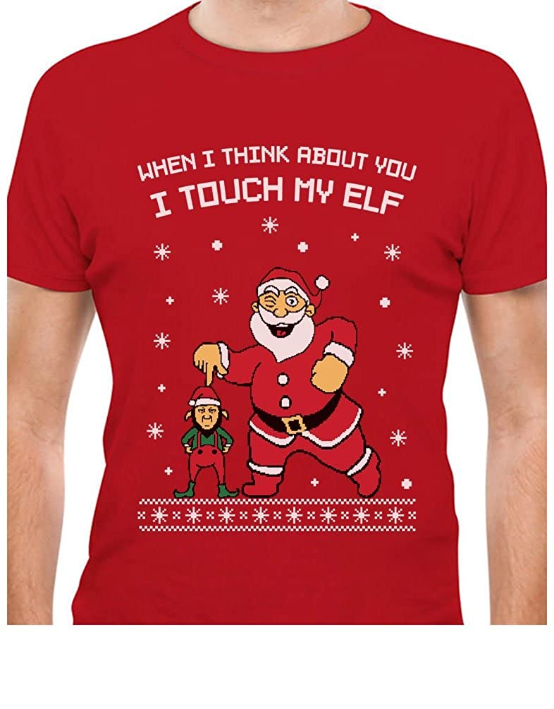 TeeStars - I Touch My Elf Ugly Christmas Sweater T-Shirt GhPh3r3gW