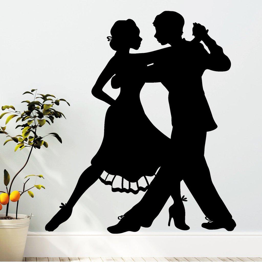 "Wandtattoo Loft ""Tänzer Tango Tanzen Tanzen Tanzen  - Wandtattoo   54 Farben   3 Größen   schwarz   115 cm (breit) x 133 cm (hoch) B00YX92ZRA Wandtattoos & Wandbilder f338d0"