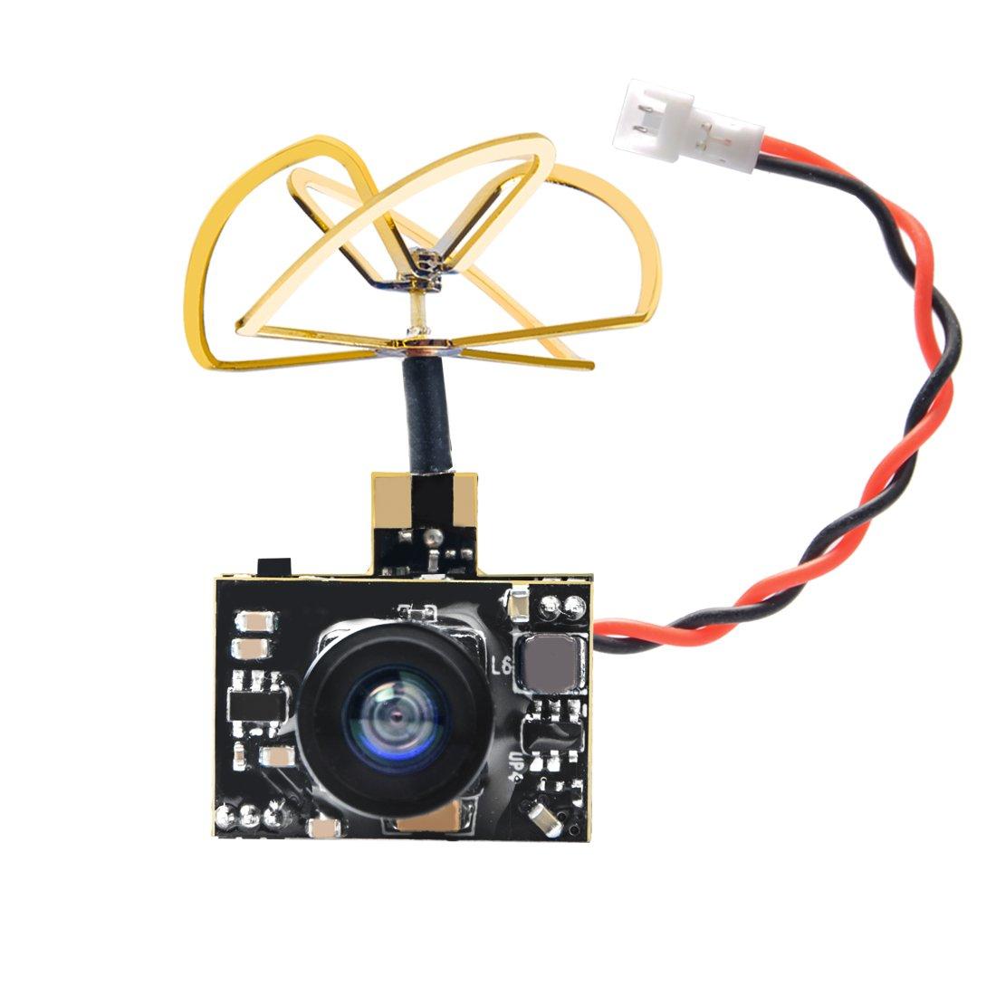 Akk A2 5.8ghz 200mw Fpv Transmisor Raceband 600tvl 1/4 Cmos Mini Camara Fpv Micro Aio Con Antena Clover Para Fpv Drone