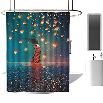 Amazon Com Fantasy Shower Curtains With Shower Hooks