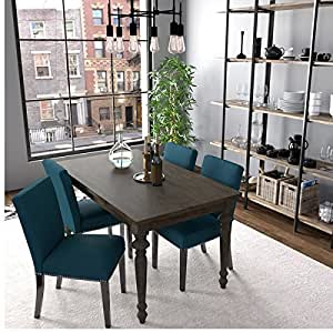 dining room furniture brisbane | Amazon.com - Handy Living Brisbane Caribbean Blue Linen ...