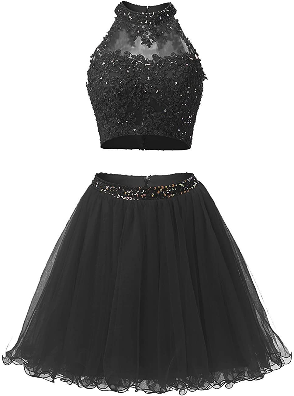 two piece short ball gown dresses