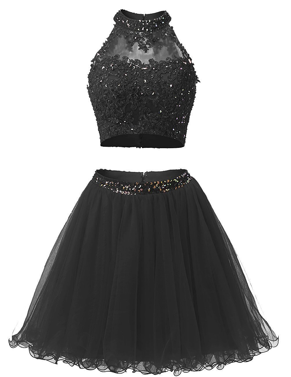 2 Piece Formal Black Dresses: Amazon.com