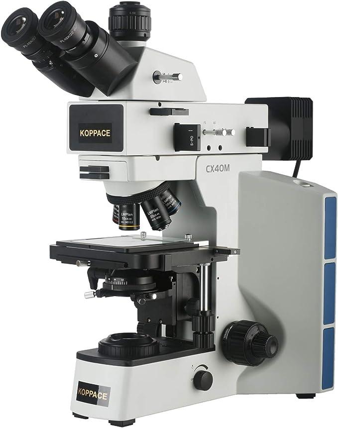 KOPPACE 4K Camera 8.3 Million Pixel 50X-500X Measure Trinocular Metallurgical Microscope it can be Measured on The Screen