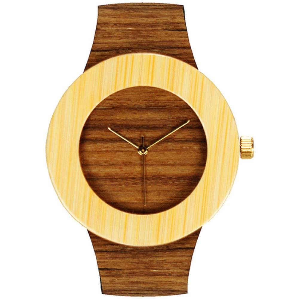 竹と木材の時計ヨーロッパとアメリカの爆発木材色ベルトメンズクォーツ時計