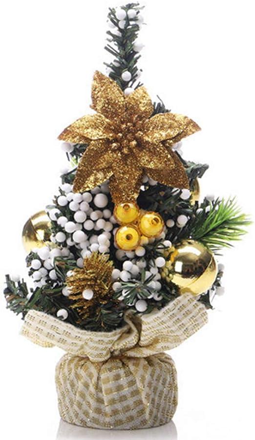 DDG EDMMS la decoración del Partido decoración del árbol de Mini Tabla del árbol de Navidad Mesa Artificial Adorno de Fondo de Oro: Amazon.es: Hogar