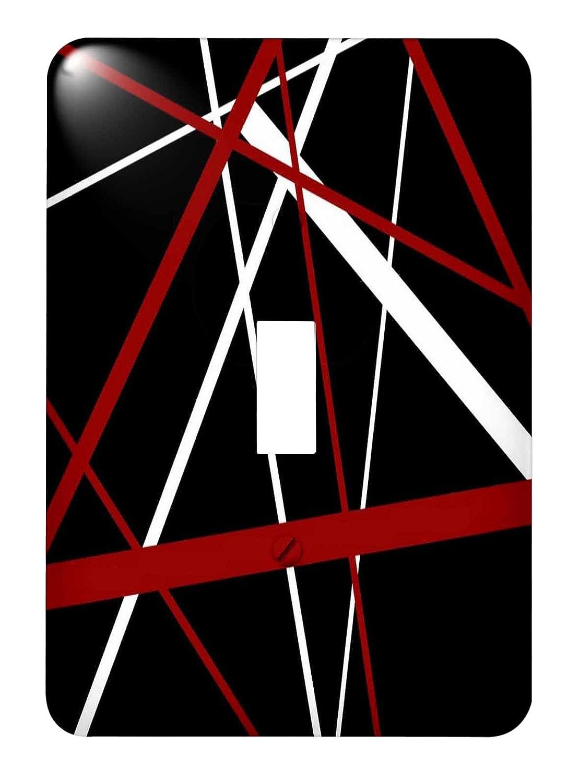 3drose LSP _ 214093 _ 1赤とホワイトストライプ黒背景に – Single切り替えスイッチ B00XWEXL0C