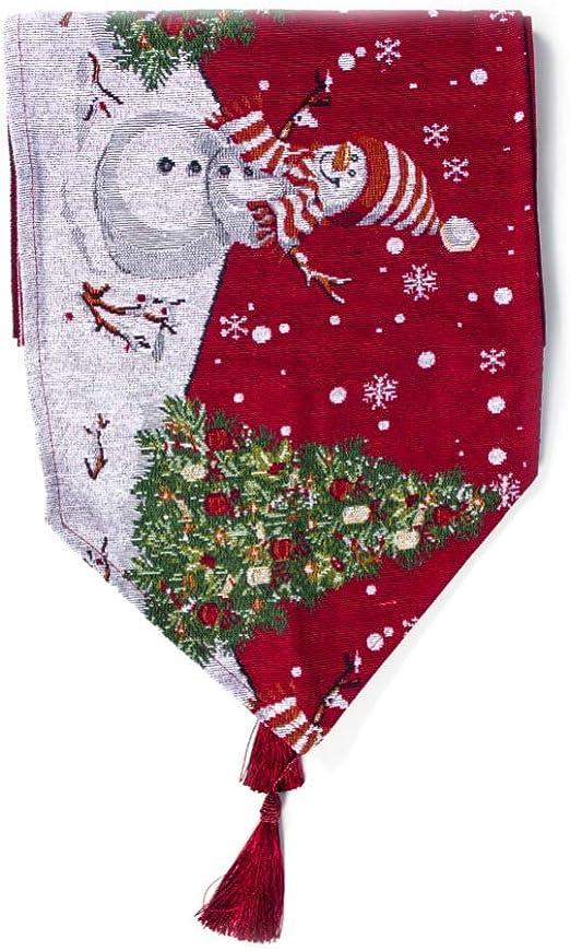 Angmile Camino de Mesa navideño con borlas Colgante Festivo ...