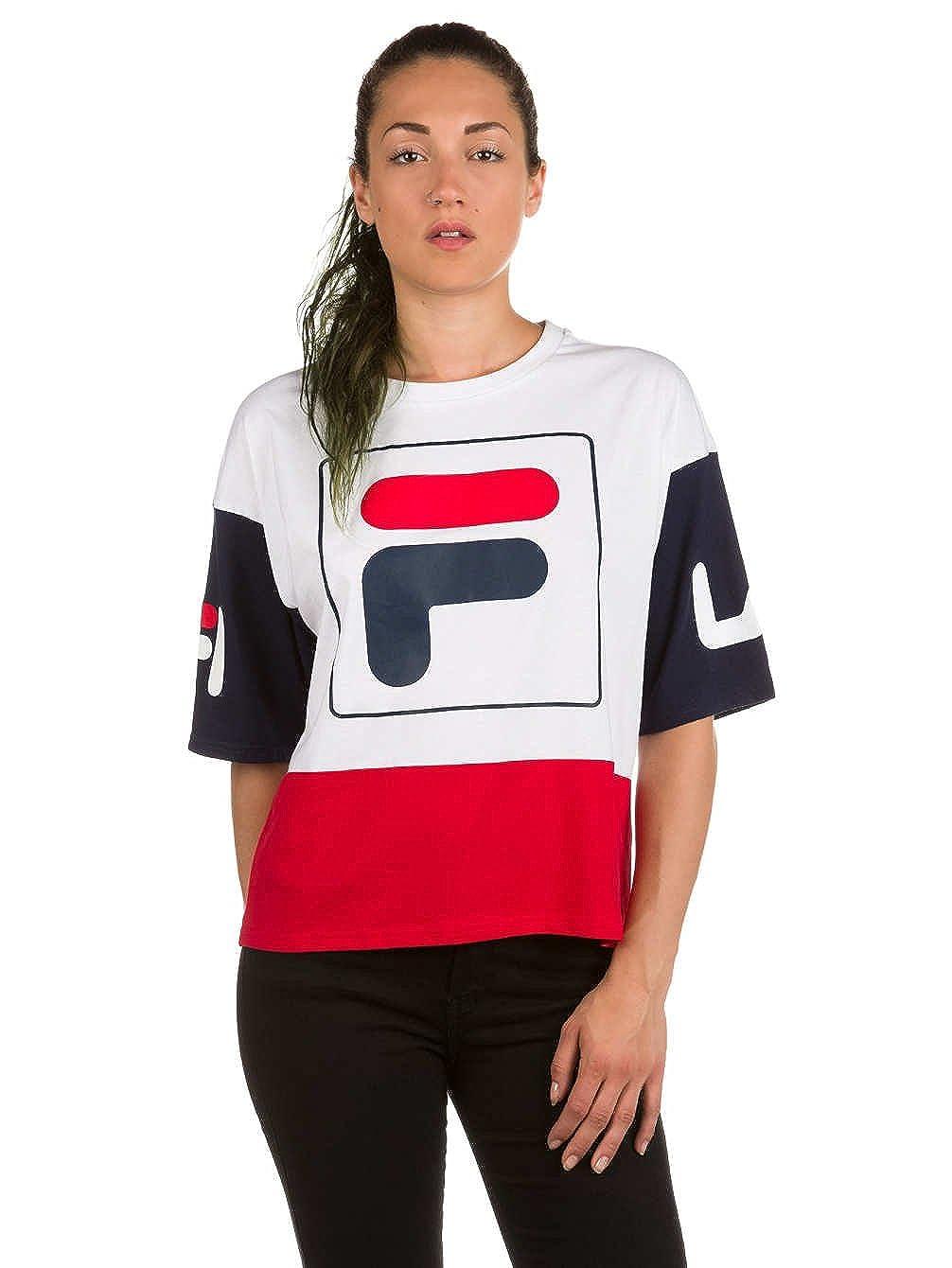 Fila Damen T-Shirt Late Cropped T-Shirt: Amazon.de: Bekleidung