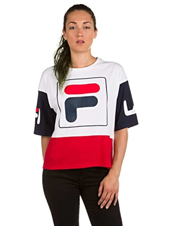 Fila Damen T-Shirt Late Cropped T-Shirt: Amazon.de: Bekleidung