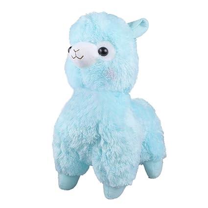 Amazon Com Tollion Cuddly Soft Blue Alpaca Llama Lamb Toy 7