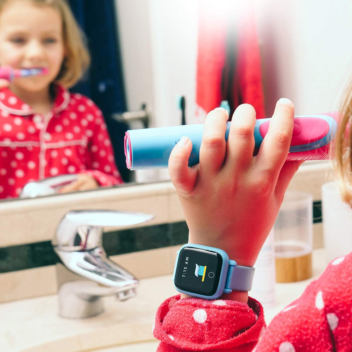 New! Octopus Watch v2 Motion Edition Teaches Kids Good Habits & Time - Encourages Active Play - The First Icon-Based Kids Smartwatch and Fitness Tracker (Blue) by Octopus by JOY (Image #4)